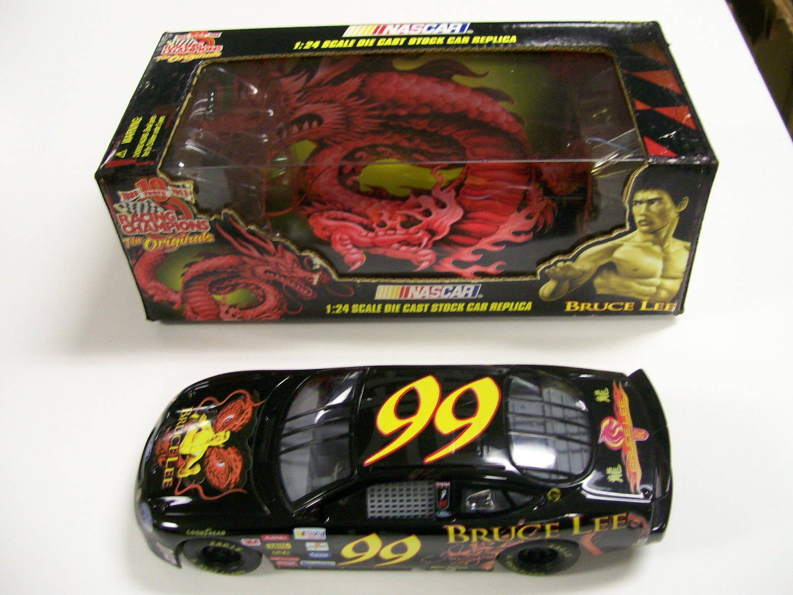 Bruce Lee 1/24 Scale die cast Stock Car Replica 1999