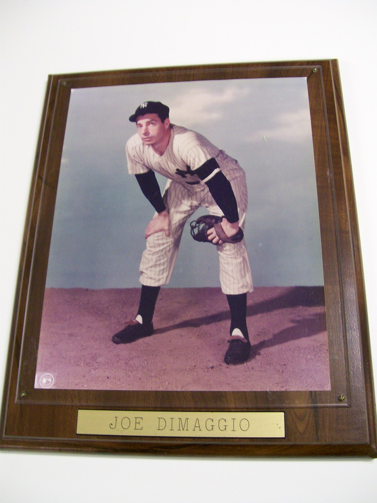 REAL PHOTO OF JOE DIMAGGIO IN YANKEE UNIFORM