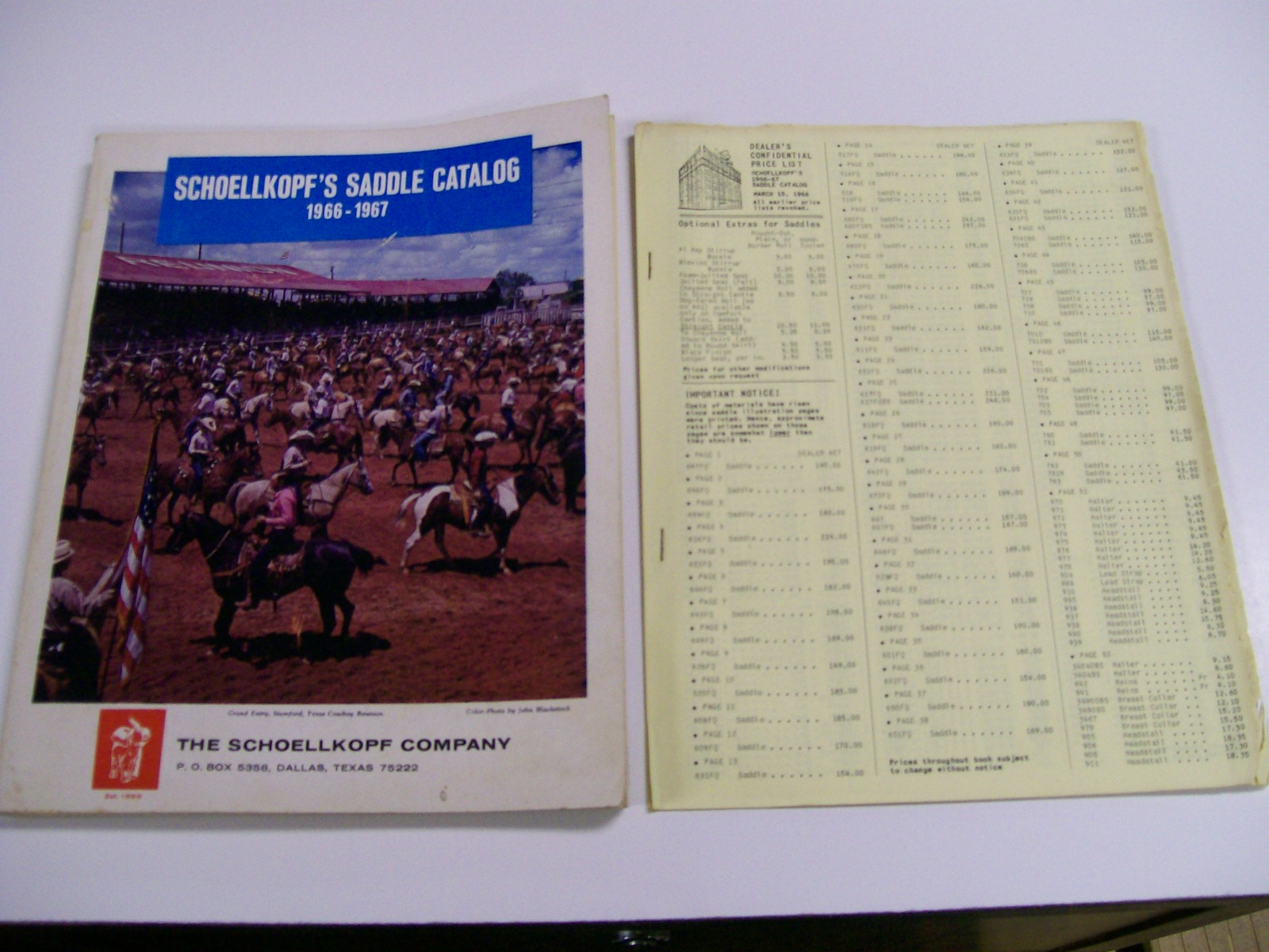 Schoellkopf's Western Saddle Catalog 1966-1967 Great Items