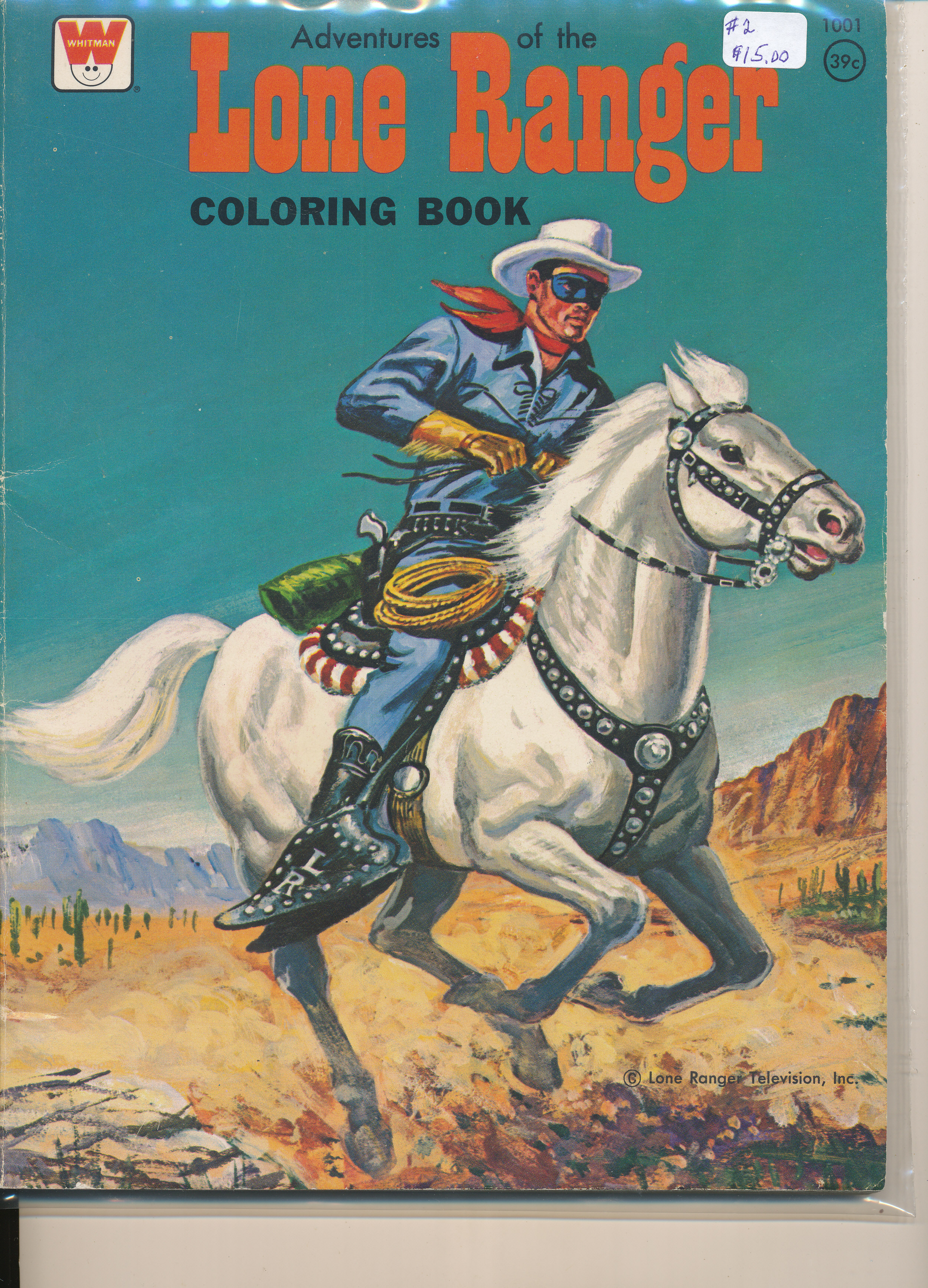 Lone Ranger Coloring Book, Whitman Book