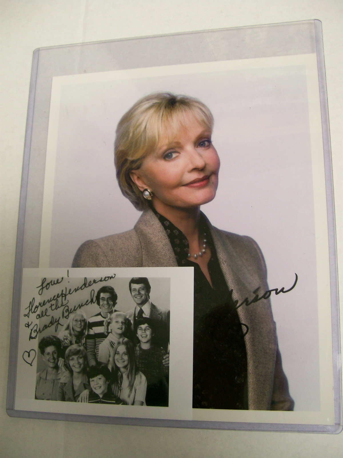 FLORENCE HENDERSON 2 SIGNED PHOTOS