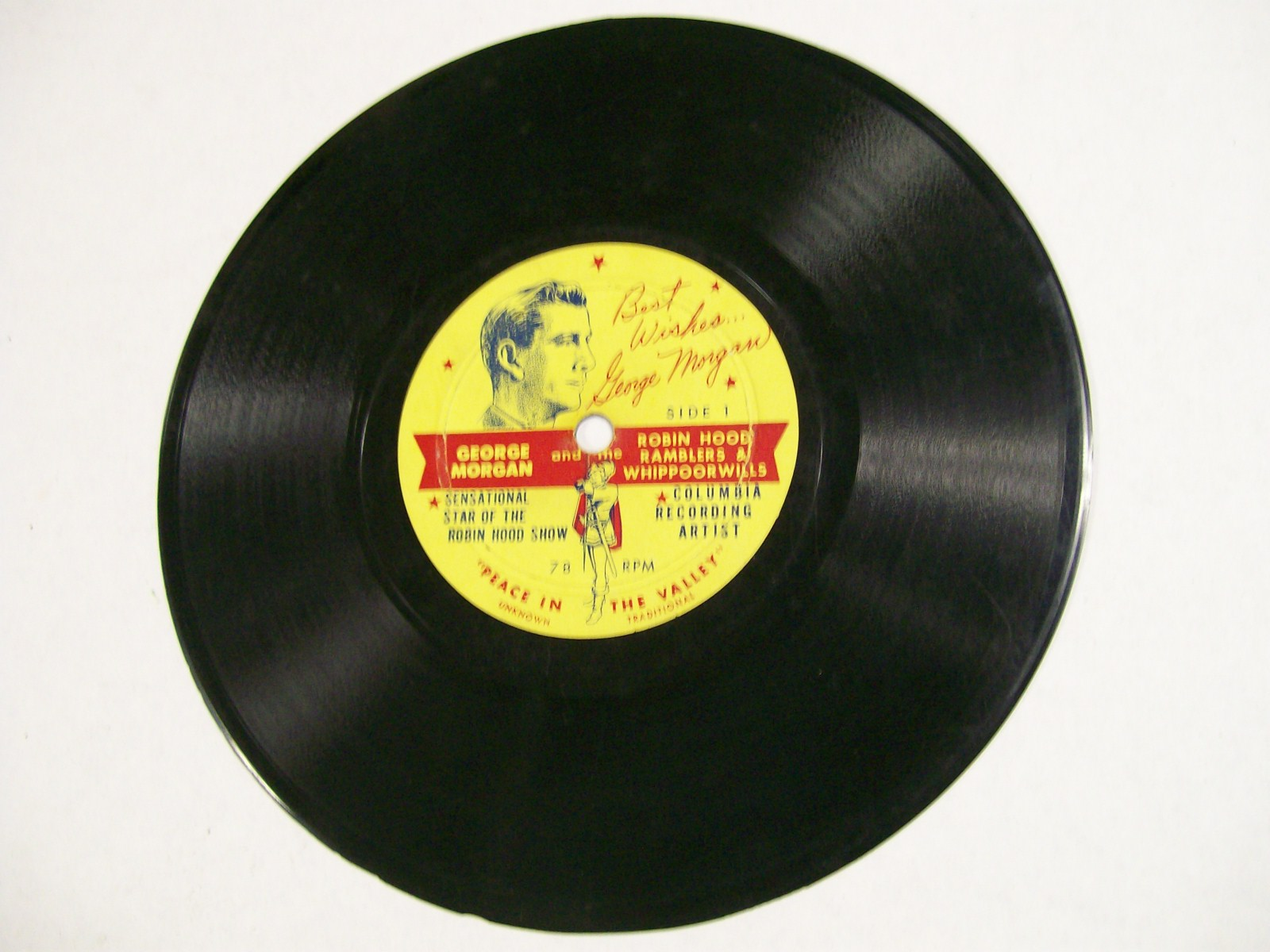 George Morgan 78 RPM Record Columbia/Robin Hood Show