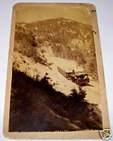 1940 Pikes Peak Auto Racing Photos on 1890s Manitou   Pikes Peak Cog Railroad Photo
