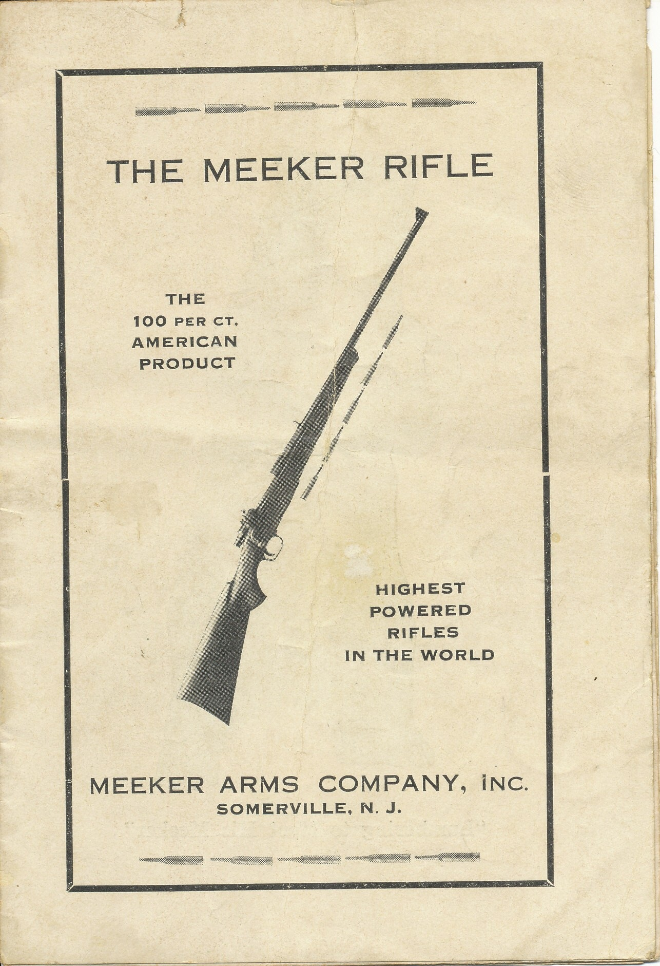 Meeker (Newton offshoot) Rifle c1924 Catalog