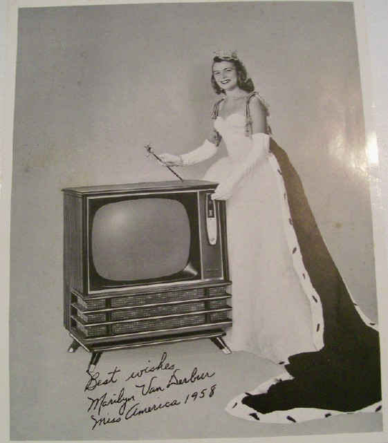 1958 Philco TV Advertising Photo With Miss America
