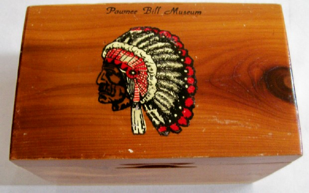 Pawnee Bill Museum Souvenir Mini Cedar Chest