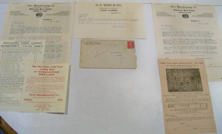 1920s Postcard Manufacturers Advertising Lot - Nyce & Weir