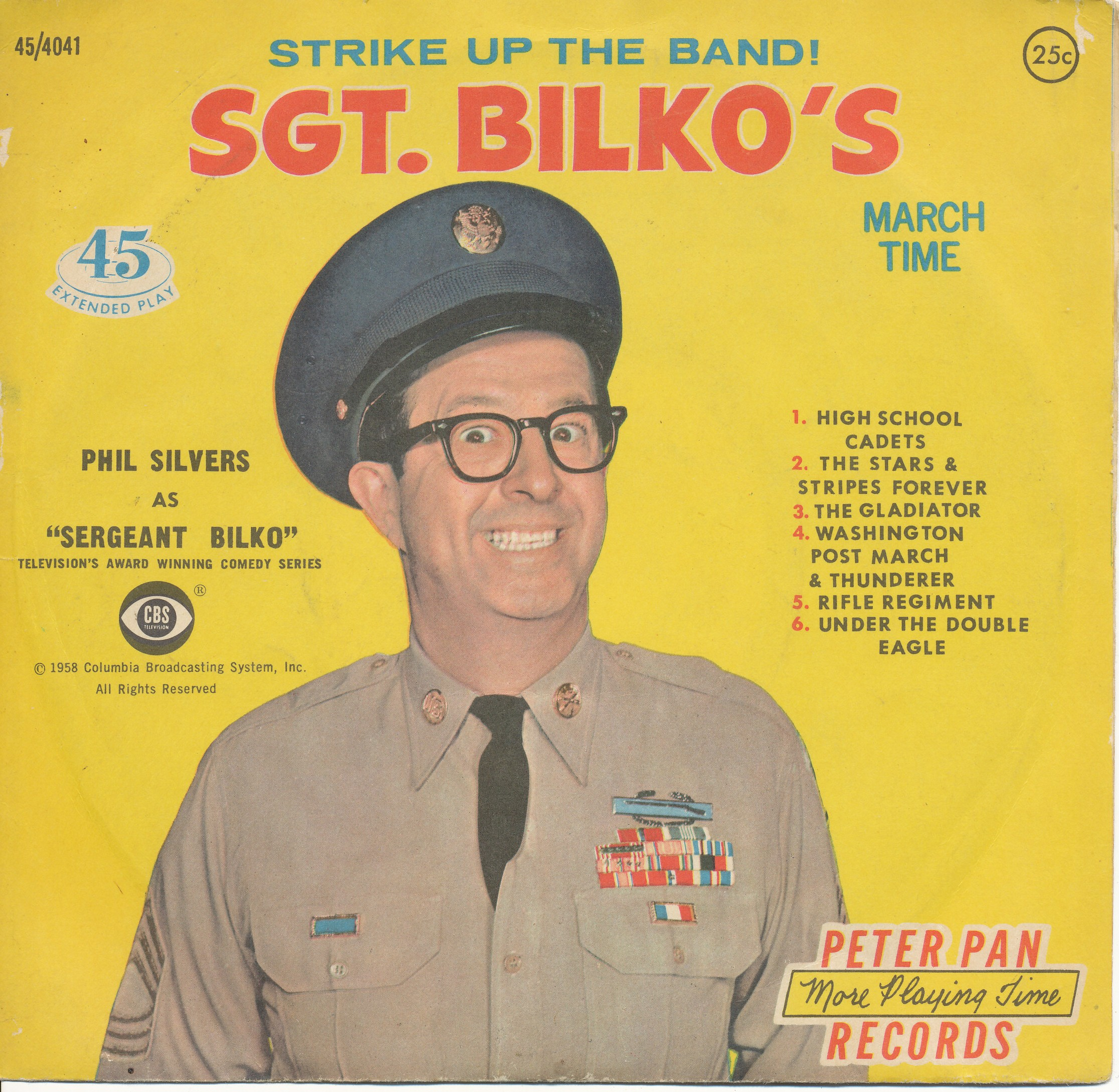1958 Sgt. Bilko's March Time, Peter Pan Records, Phil Silvers