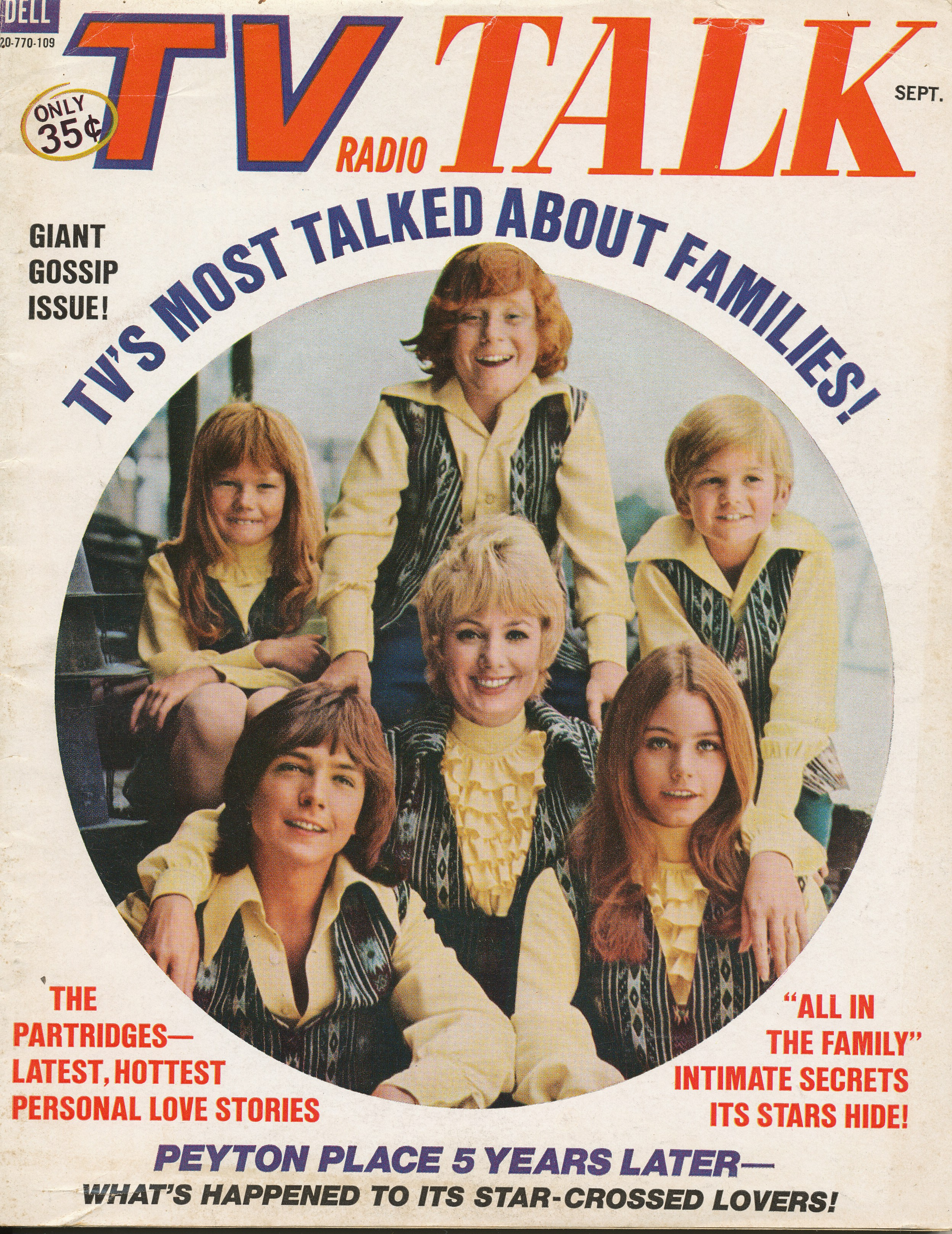 TV Radio Talk Sept. 1971 featuring The Partridges
