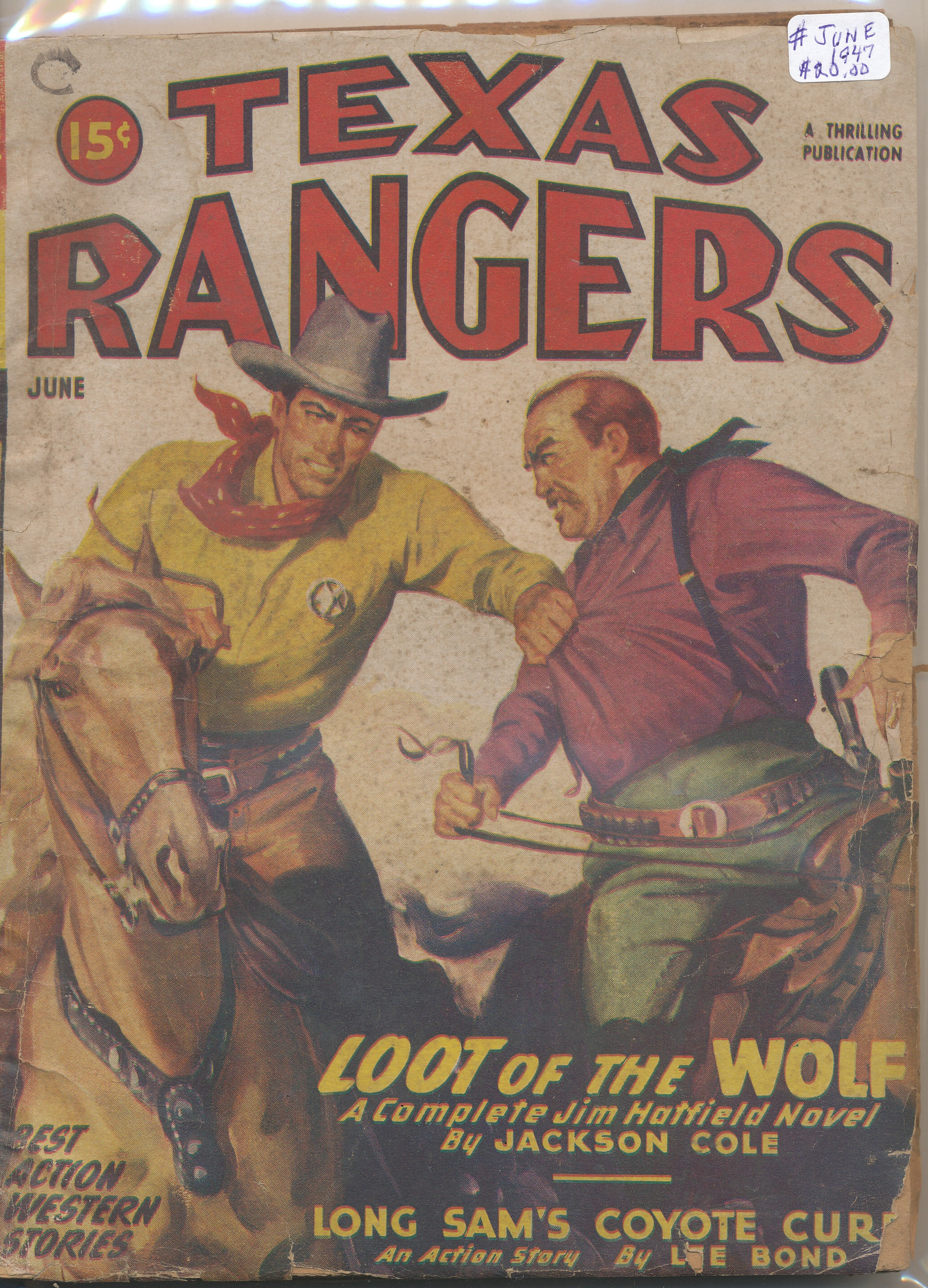 June 1947 Texas Rangers Pulps
