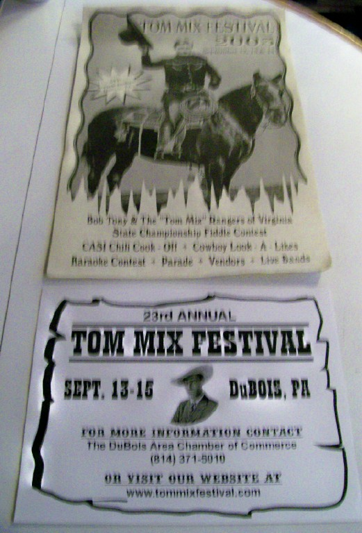 Tom Mix Western Cowboy Hero Festival Poster Pair