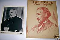 Toscanini 1930s Original RCA Promo Photo + Etude Cover