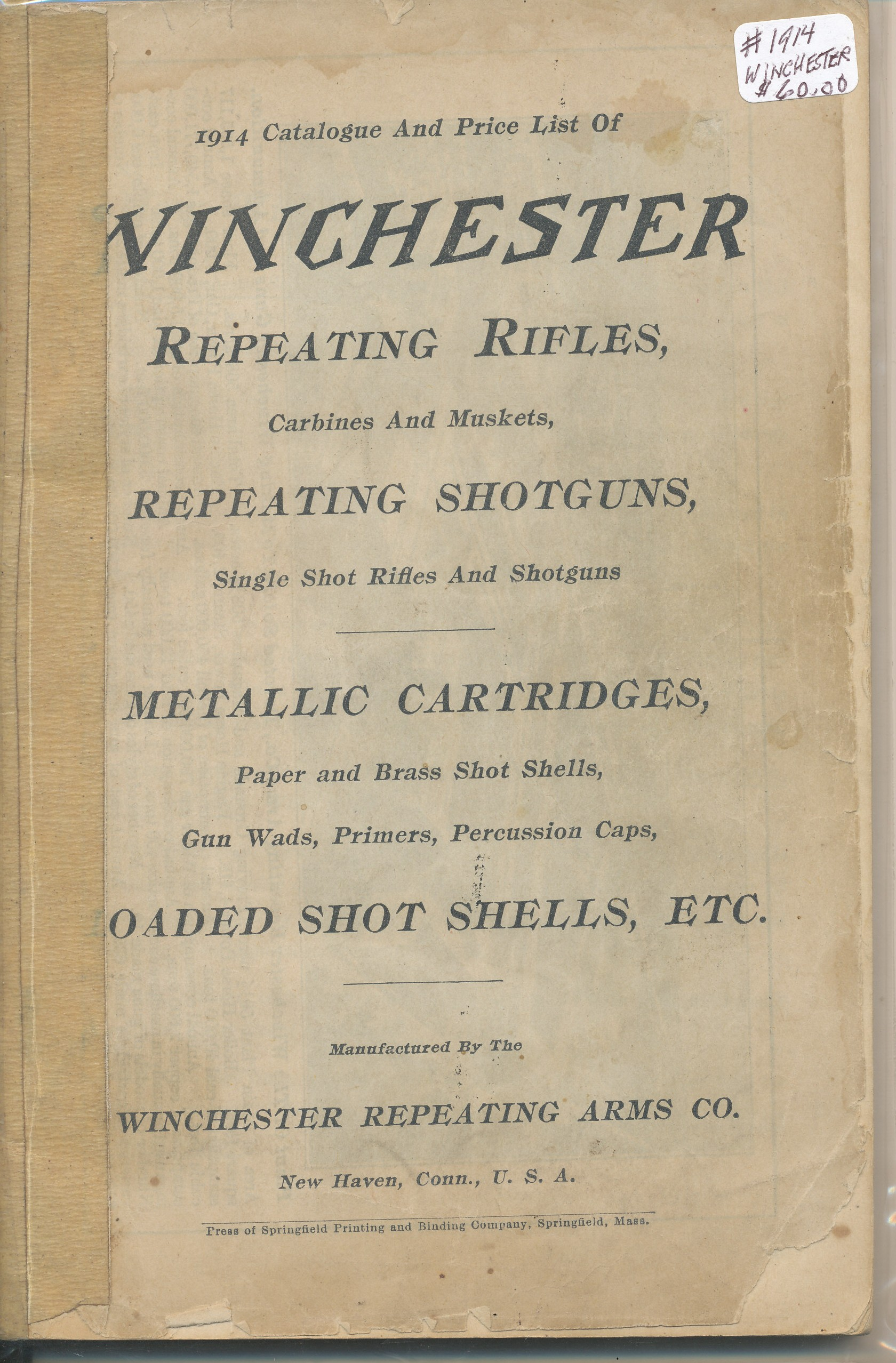 1914 Winchester Catalogue and Price List