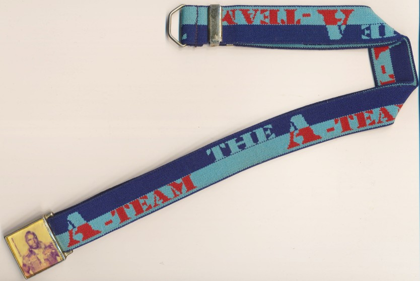 Vintage 1983 A-Team Adjustable Belt By Lee - Mr T Buckle