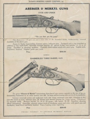 1915 Abesser & Merkel + Gebr Adamy Gun Advertising