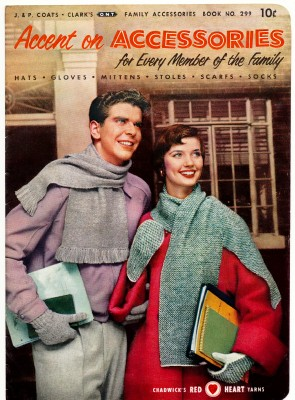 1953 Knitting & Crocheting Pattern Book - Family Accessories