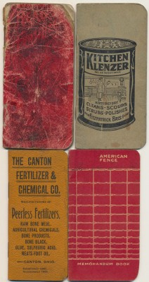 1899-1927 Advertising Notebook Lot