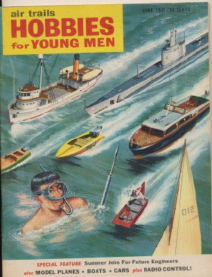 1955 Model Airplane Model Boat Model Car + R/C Magazine