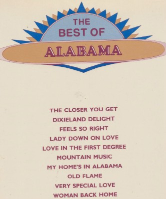 1980s Best Of Alabama Piano Guitar Sheet Music Song Book
