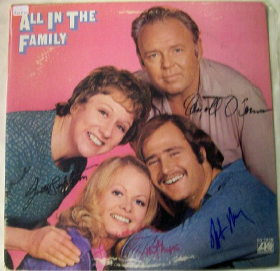 1971 All In The Family LP Autographed By All Four Stars