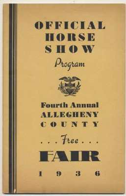 1936 Allegheny County Fair Horse Show Program - Pittsburgh PA