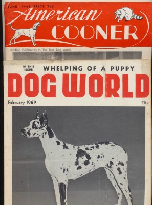 1969 Dog World W/Great Dane + 1968 American Cooner