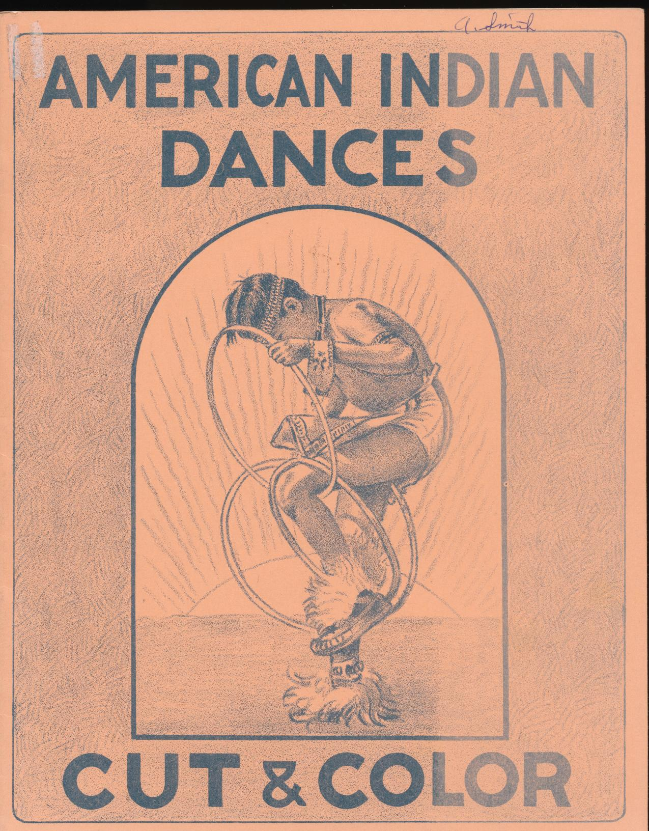 1952 American Indian Dances Cut & Color Book W/Standup Figures