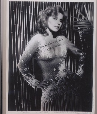 Autographed Photo Of Abbe Lane - Xavier Cugat's Wife Pre-Charo