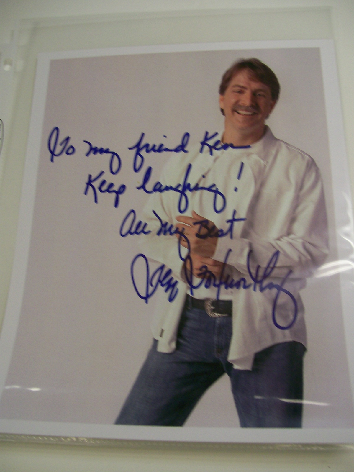 Jeff Foxworthy Autographed Photo from a restaurant in Florida