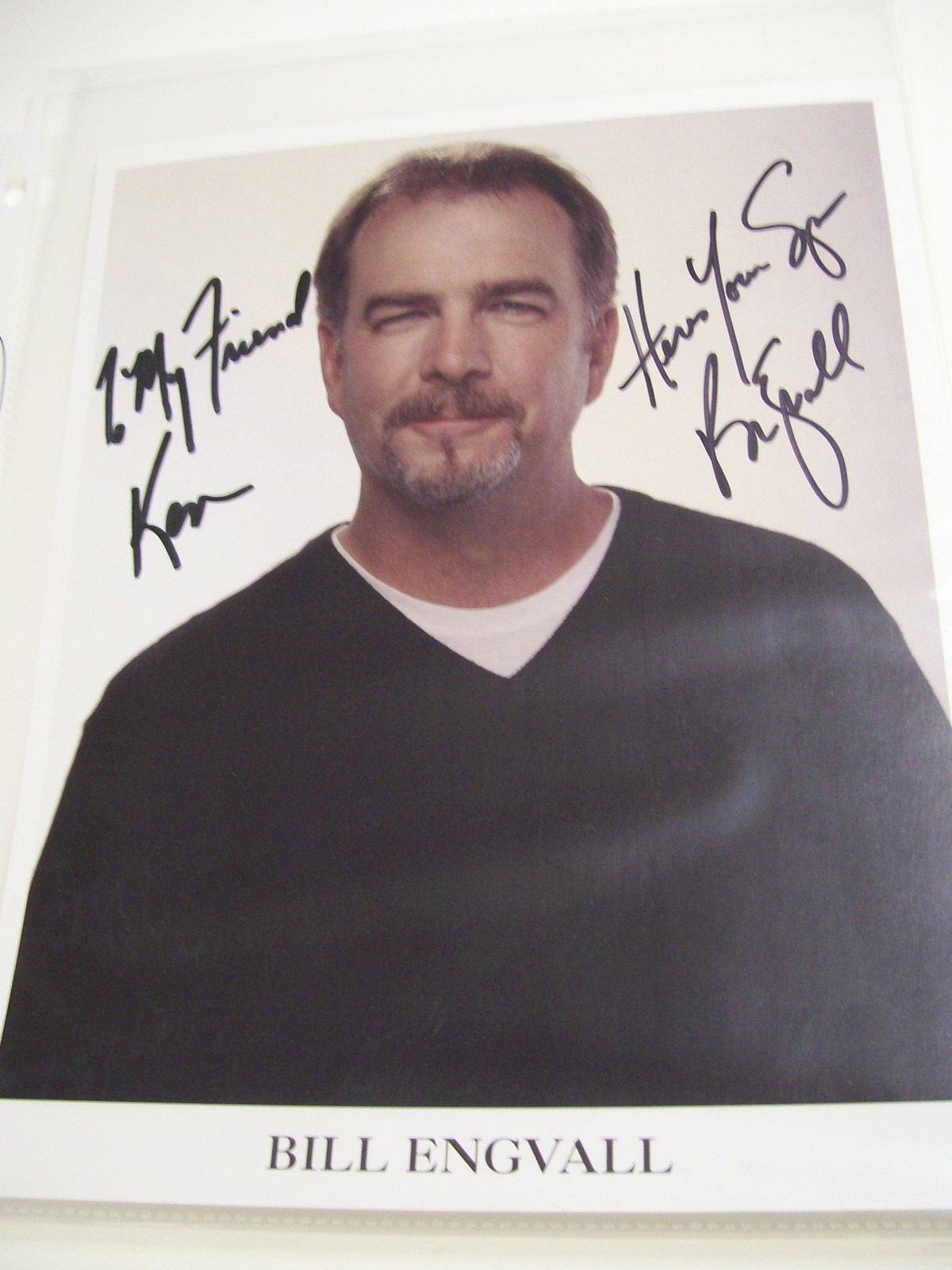 Bill Engvall Autographed photo from restaurant in Florida.