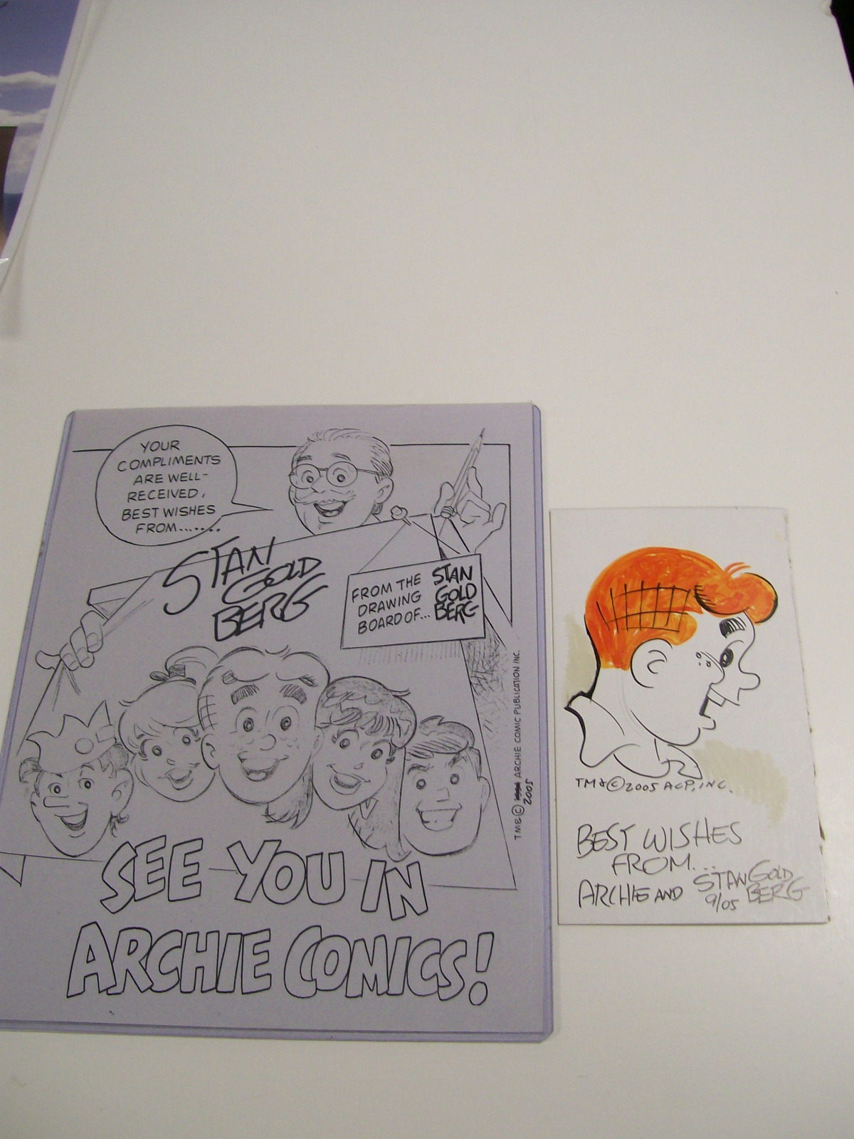 Archie Drawing & Artist Sketch of the whole gang-Stan Goldberg