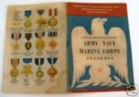 Vintage WWII Army Navy Marine Insignia ID Guide Book