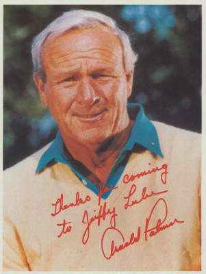 "Arnold Palmer ""Signed"" Photo Advertising Pennzoil Jiffy Lube"