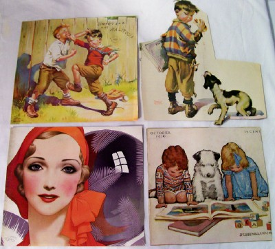 Collection Of 1930s Artist Signed Magazine Illustrations
