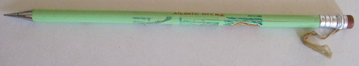 Atlantic City Souvenir Giant Mechanical Pencil - Made In Japan