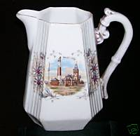 1890s Atlantic City German China Pitcher Lighthouse PreBoardwalk