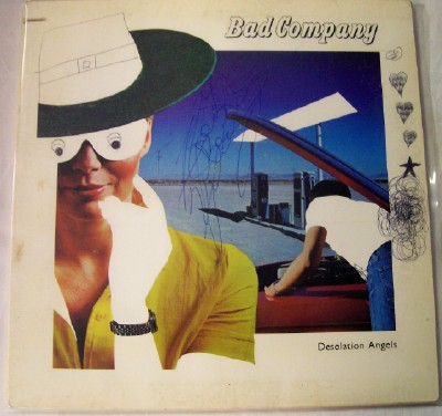 1979 Desolation Angels LP By Bad Company With 2 Autographs