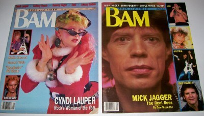 BAM Rock & Video Magazine Lot Including Volume 1 Number 1