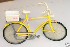 Vintage Barbie Bicycle With Basket & Decals