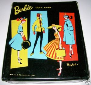 Vintage 1961 Barbie Doll Case By Ponytail - Teen Vinyl