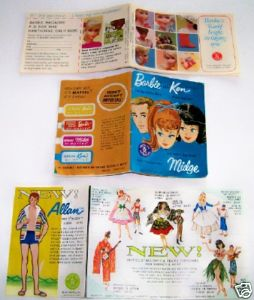 Vintage Barbie Doll Clothing Catalogs + New Doll Intro