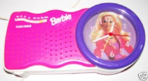 Vintage Barbie Working Clock Radio With Night Light