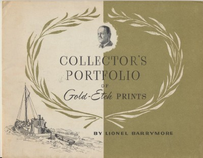Collector's Portfolio Of 4 Gold-Etch Prints By Lionel Barrymore