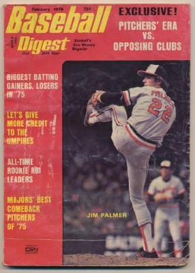 February 1976 Baseball Digest - Reviews Of 1975 Season