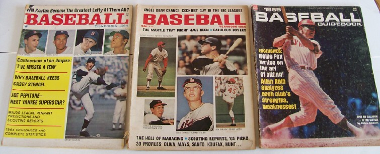 1964-1965 Baseball Yearbooks & Baseball Guidebook
