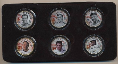 Boxed Set Of Baseball All-Time Greats Colorized State Quarters