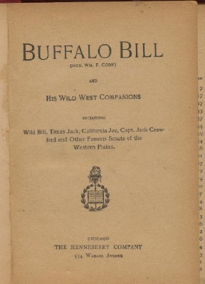 Biography Collection Of Famous Western Scouts--Incl Buffalo Bill