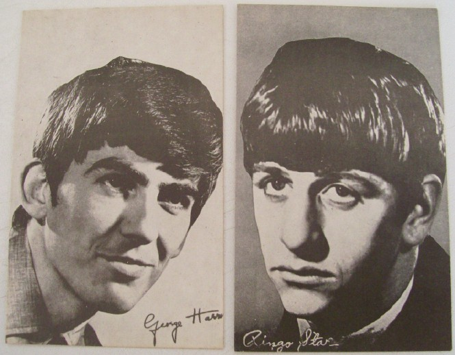 Vintage Beatles Arcade Cards - George & Ringo
