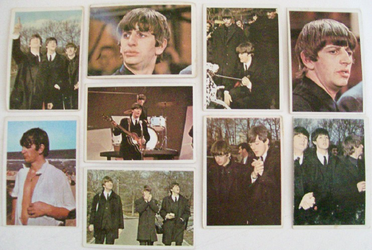 Vintage 1964 Beatles Color Trading Cards Or Gum Cards By Topps