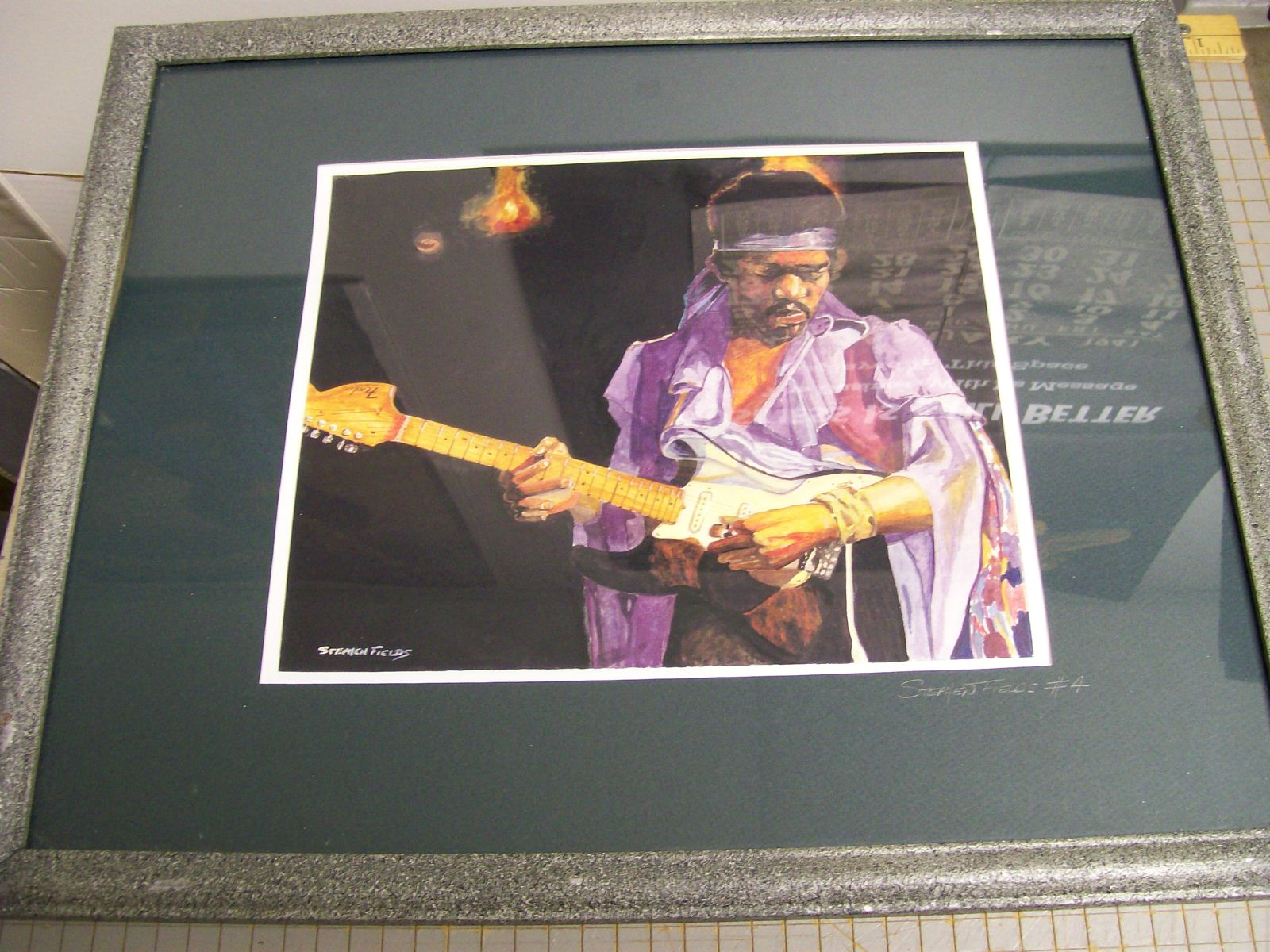 Jimi Hendrix Print Signed by Stephen Fields #4